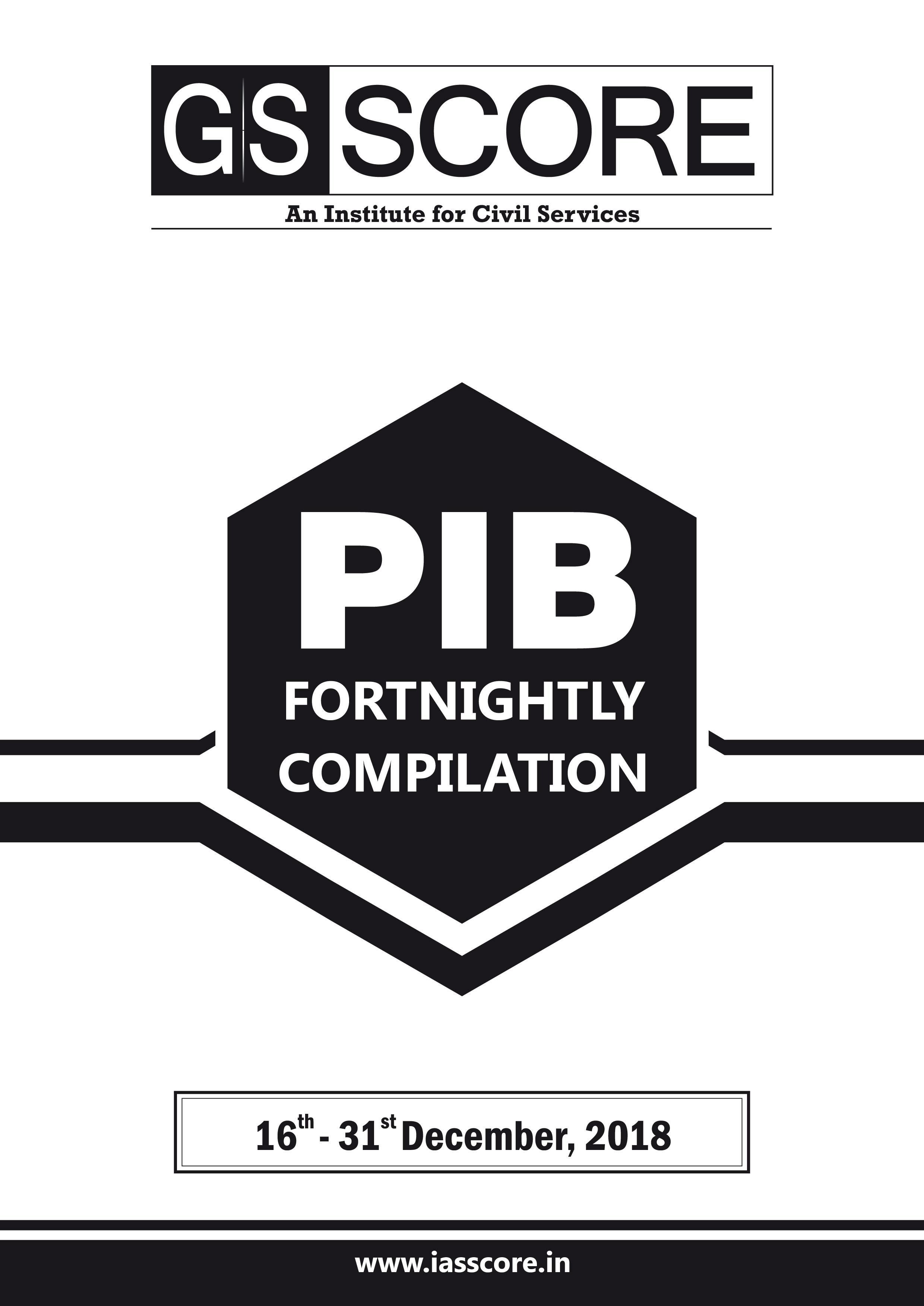 PIB Compilation - 16th December to 31st December