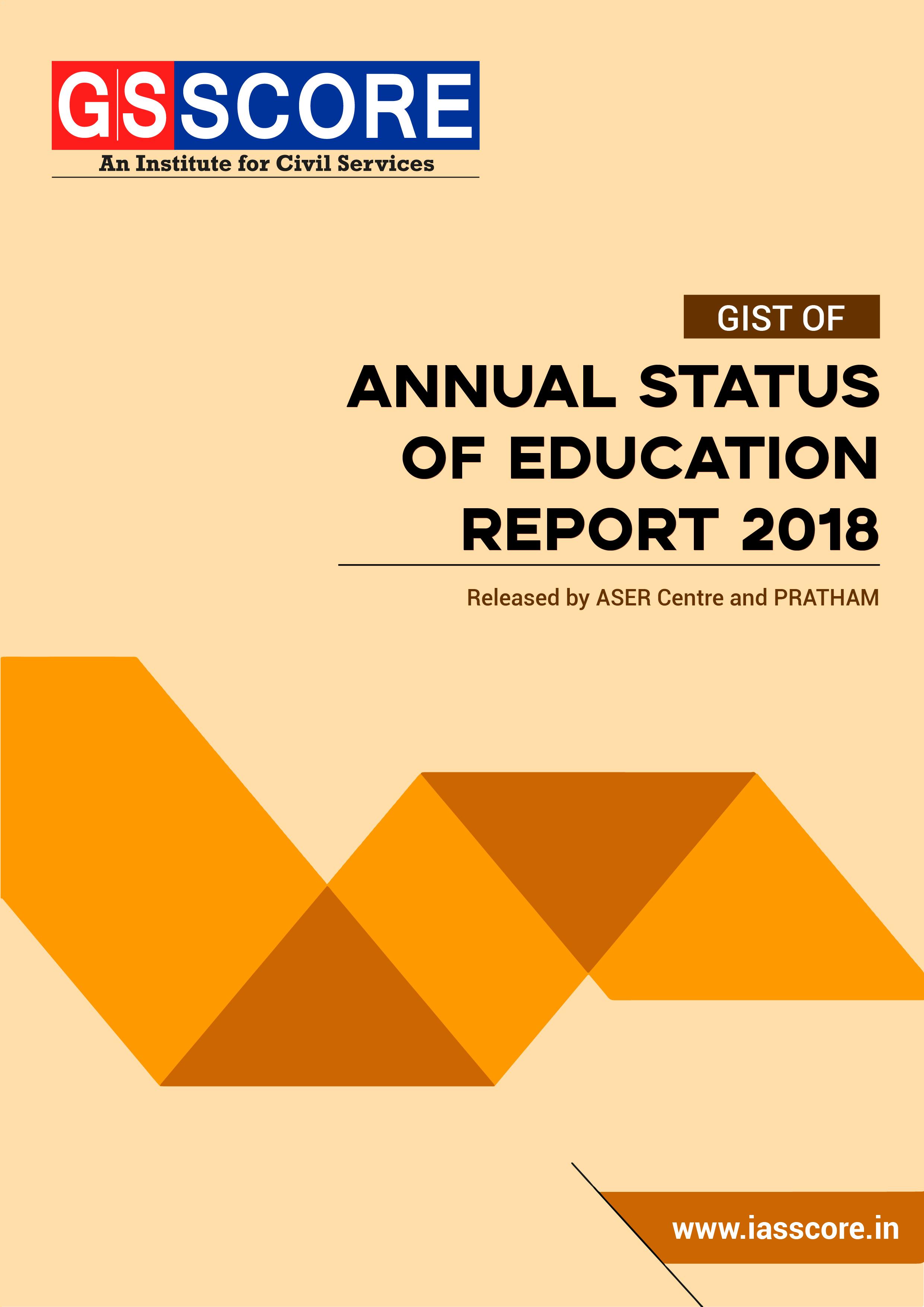 """""""Annual Status of Education Report (Rural) 2018"""""""