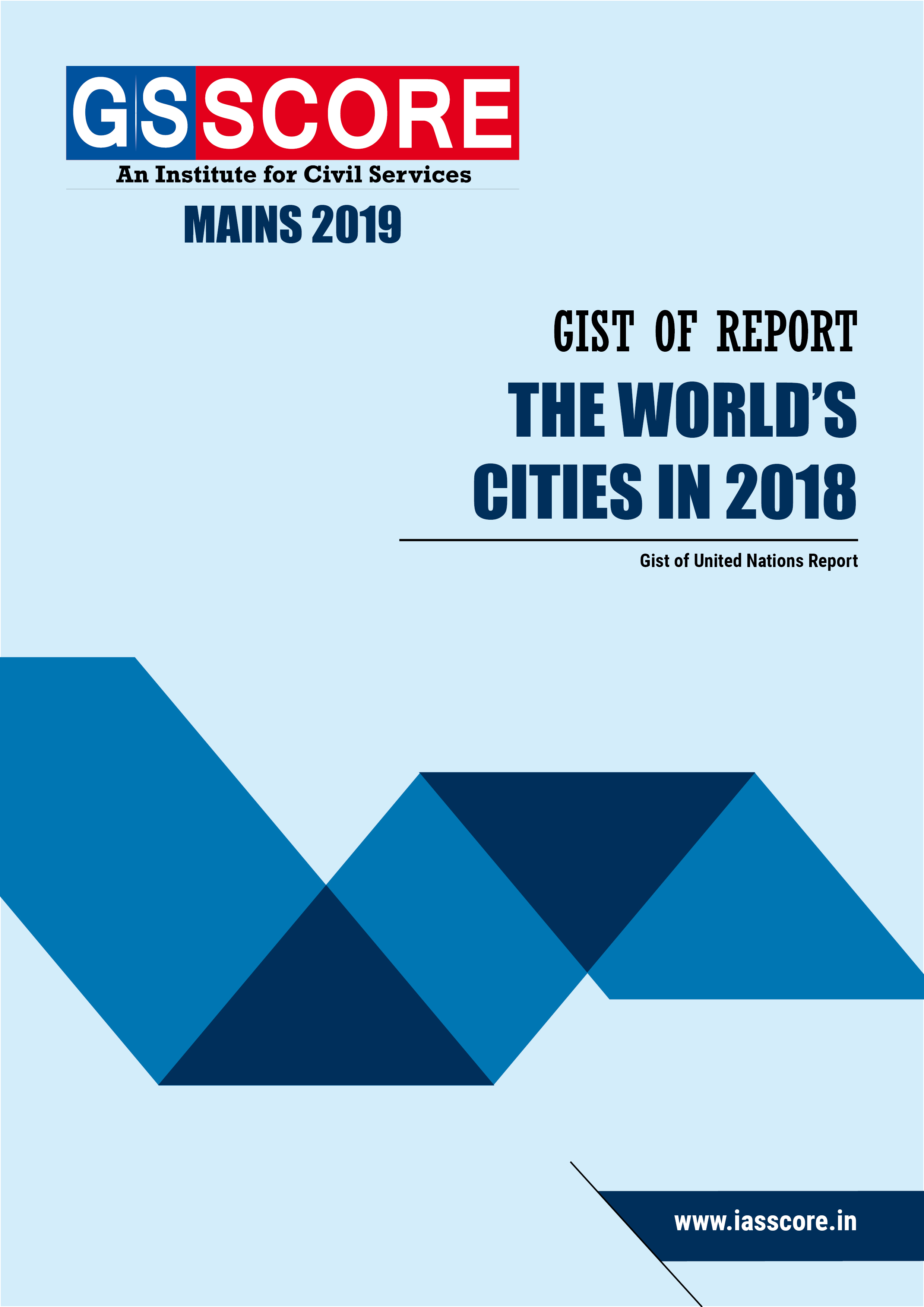 """Gist of Report on """"The World's Cities in 2018"""""""