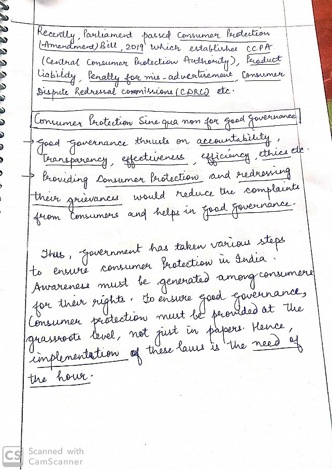 Explain the evolution of Consumer protection in India and